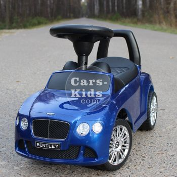Толокар Bentley синий (музыка, гудок, бардачок)